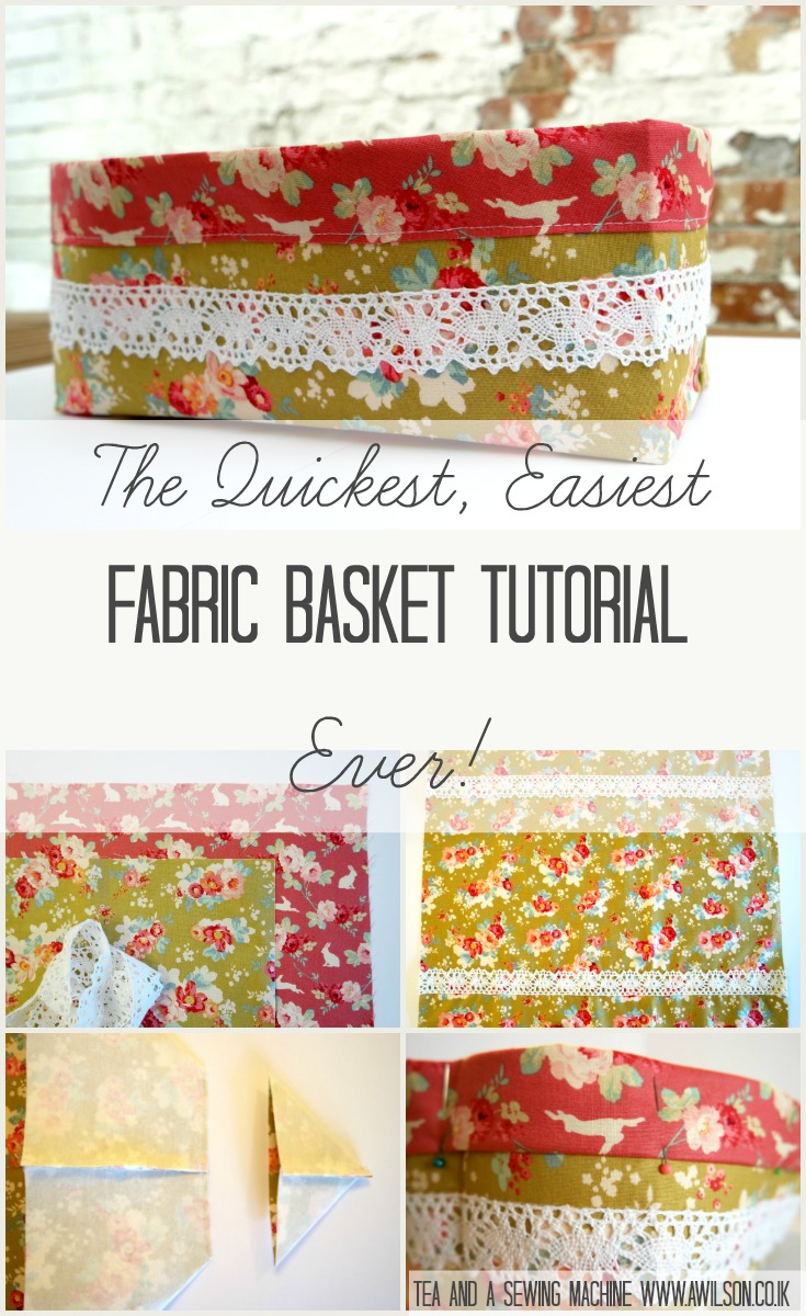 Fabric baskets are always useful! This little basket is very easy and quick to make. This clear, step by step tutorial with pictures shows you how.