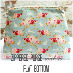 zippered purse square