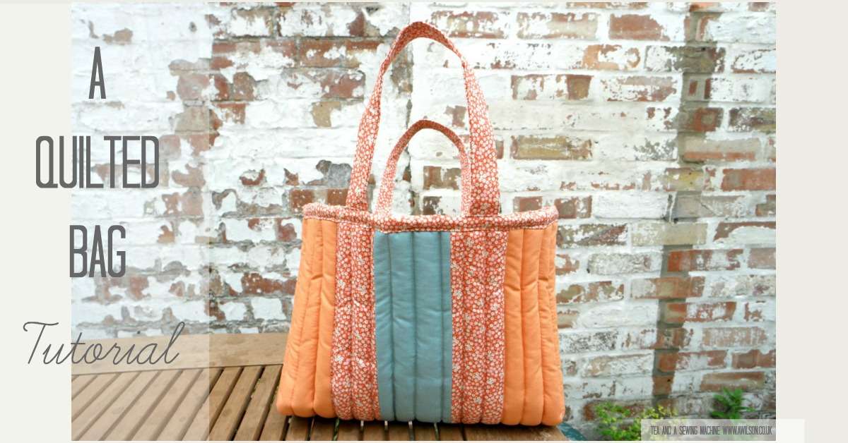 how to make a quilted bag tutorial tilda cabbage rose memory lane autumn 2016