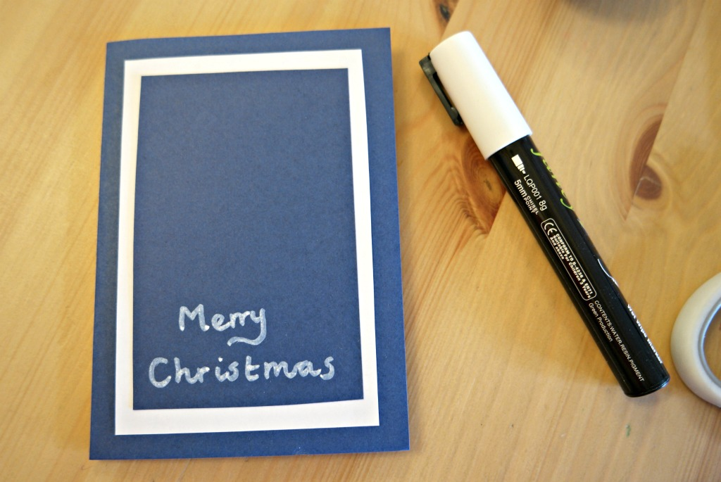 handmade christmas card tutorial