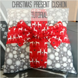 christmas present cushion nordic star cushion tutorial