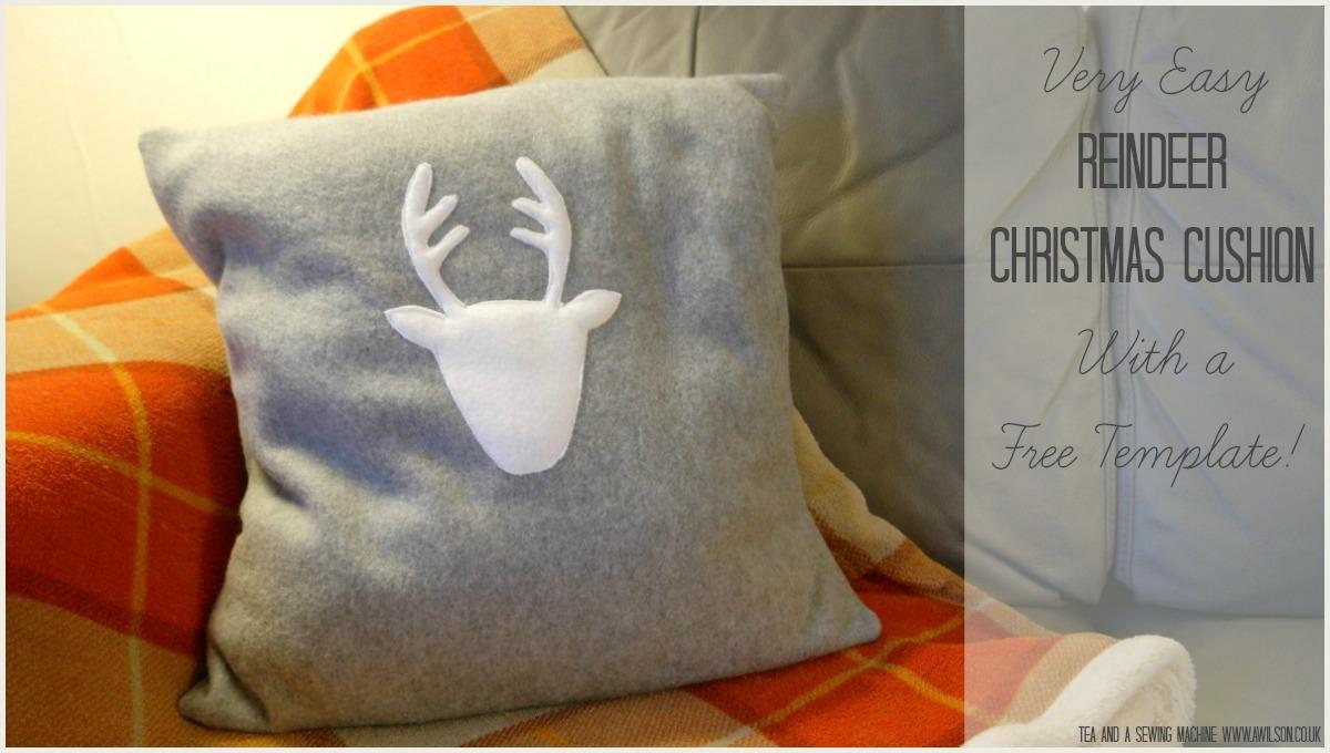 diy reindeer christmas cushion tutorial