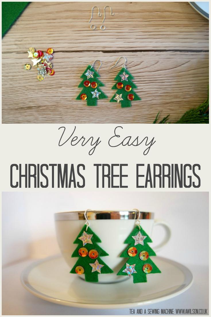 very-easy-diy-christmas-earrings tutorial how to