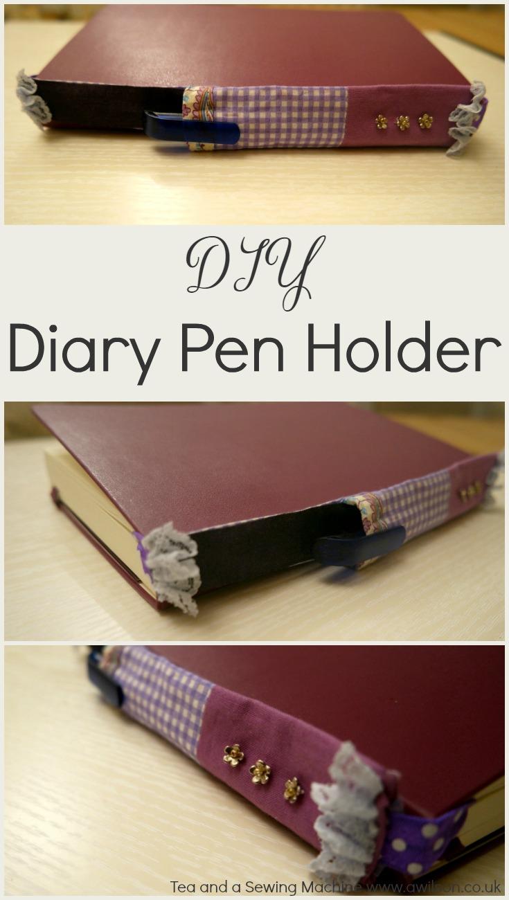 diy diary pen holder