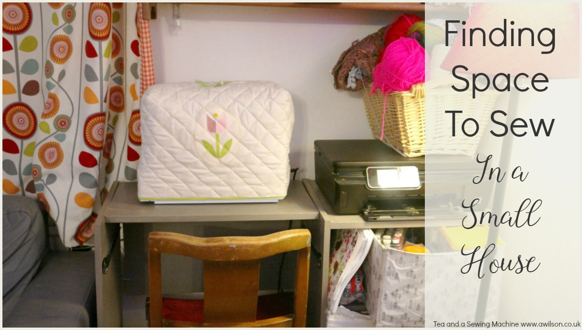 how to find space to sew in a small house