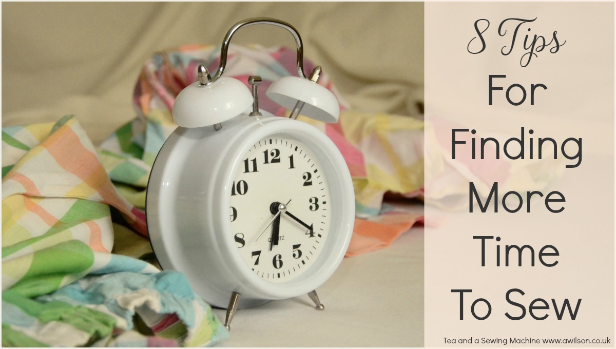 how to find more time to sew