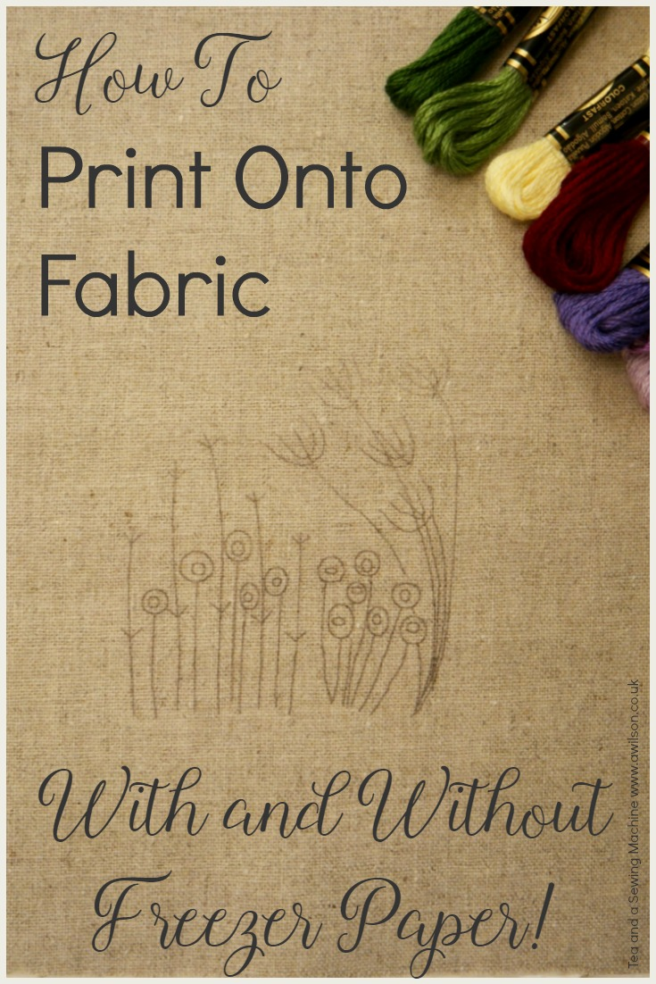 how to print onto fabric