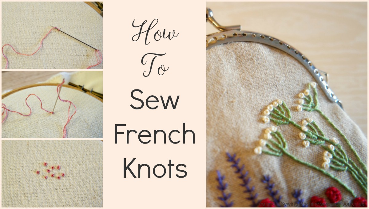 how to sew french knnots