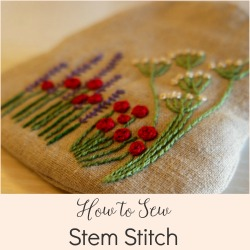 how to sew fern stitch hand embroidery