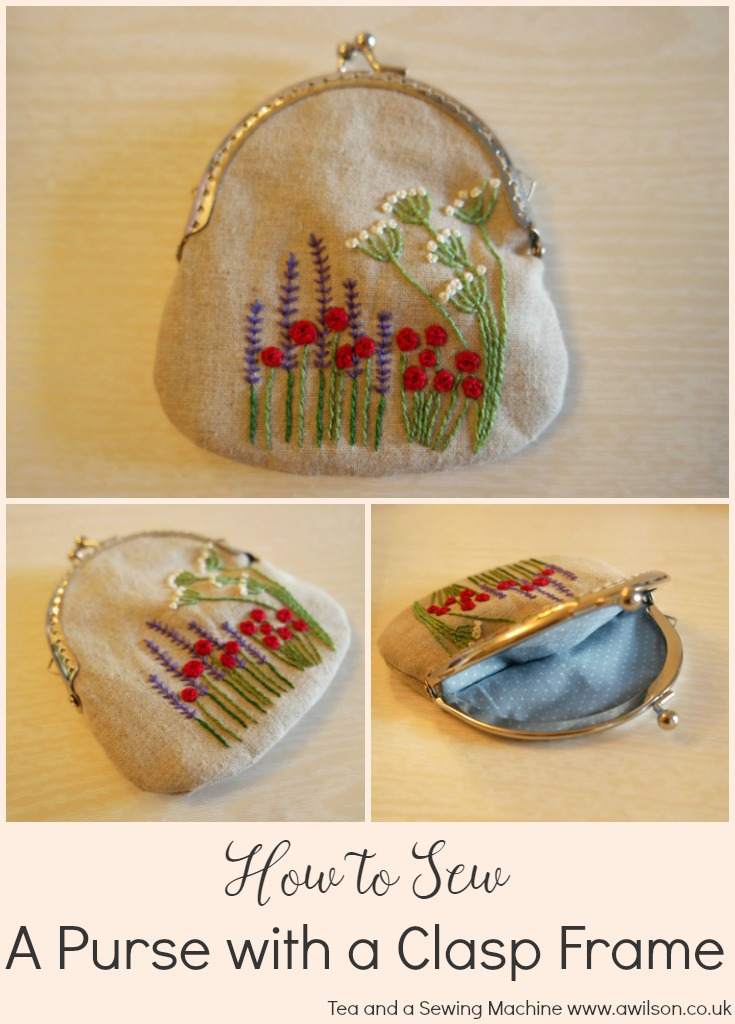 how to sew in a purse with a clasp frame