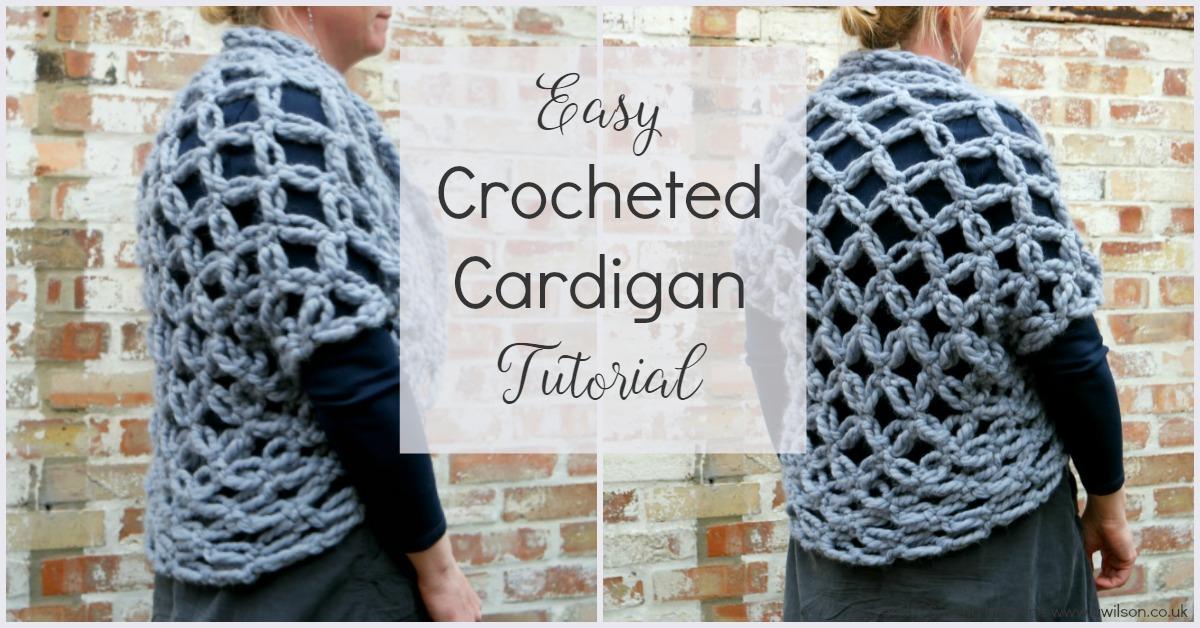 easy crocheted cardigan tutorial solomons knots