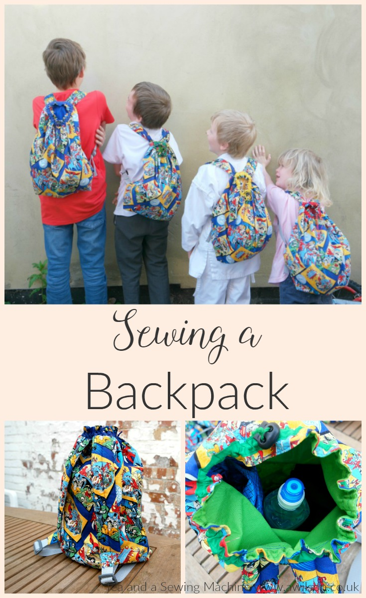 sewing a backpack