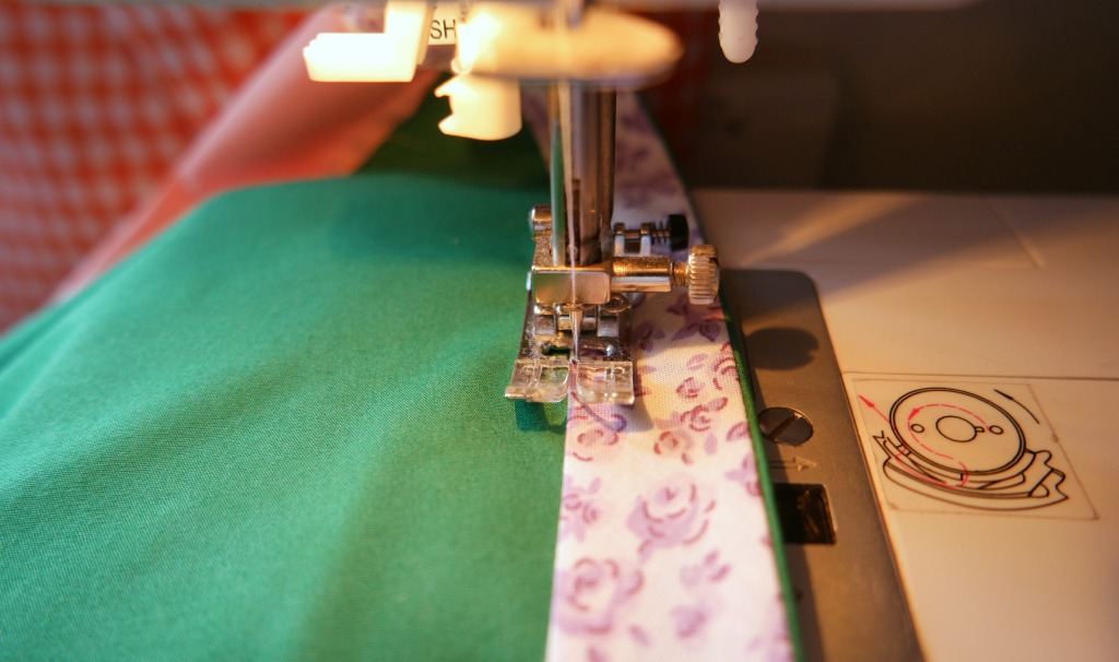 how to sew a hem with bias binding