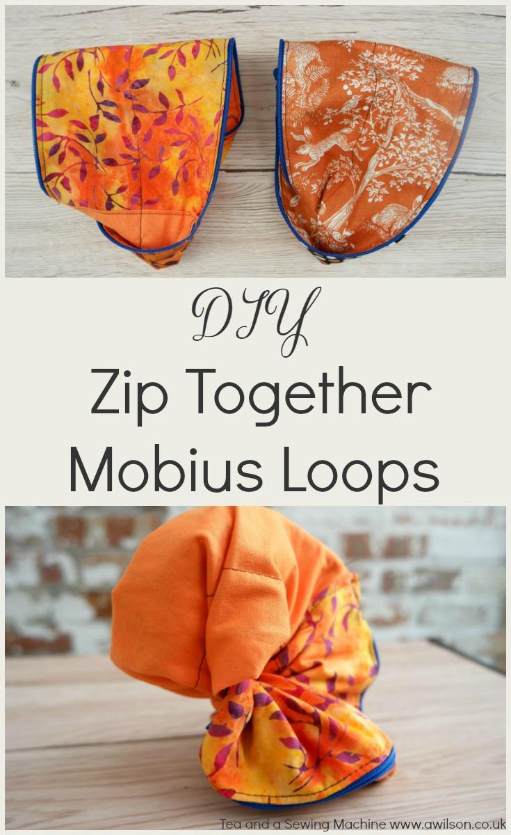 diy zip together mobius loops