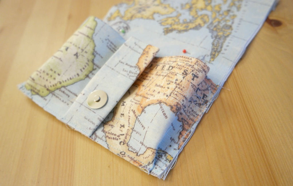 how to sew a passport wallet holder