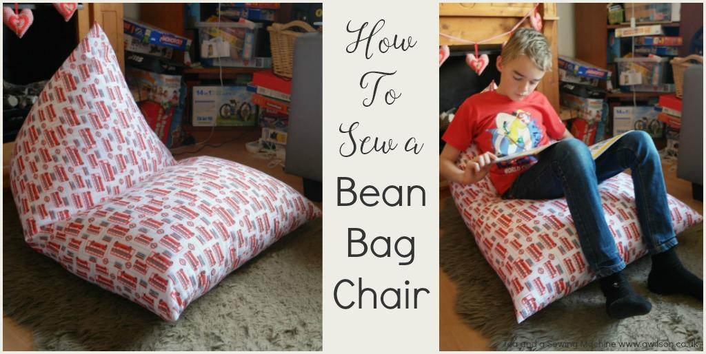 how to sew a bean bag chair