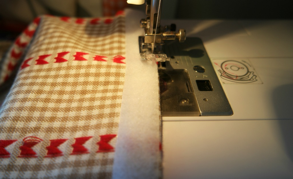 sewing to hide an eyesore