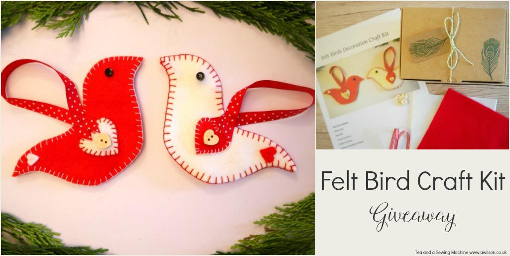 felt birds craft kit giveaway