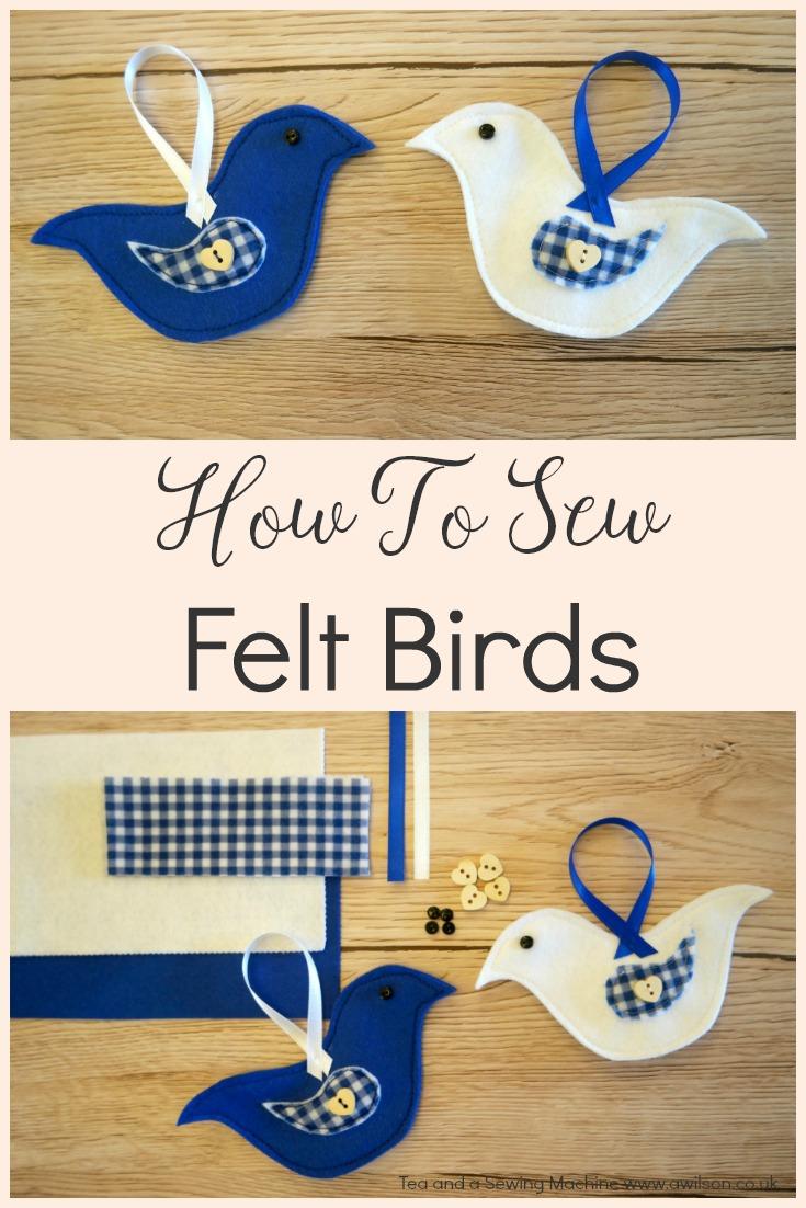 how to sew felt birds