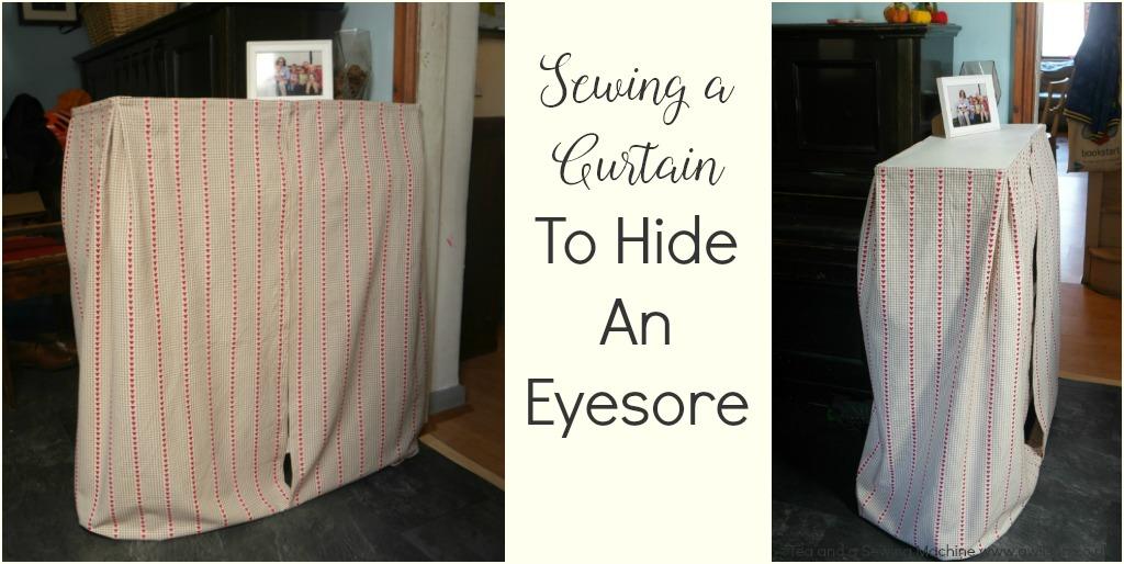 sewing to hide an eyesore