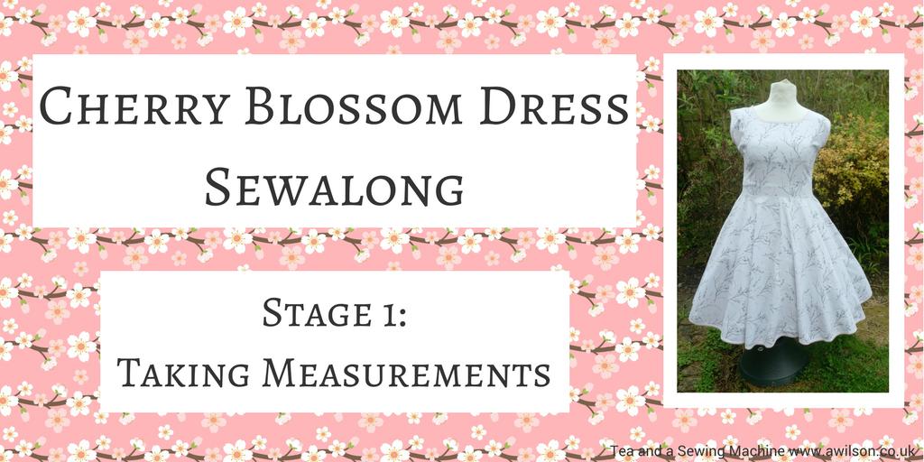 Cherry Blossom Dress Sewalong taking measurements