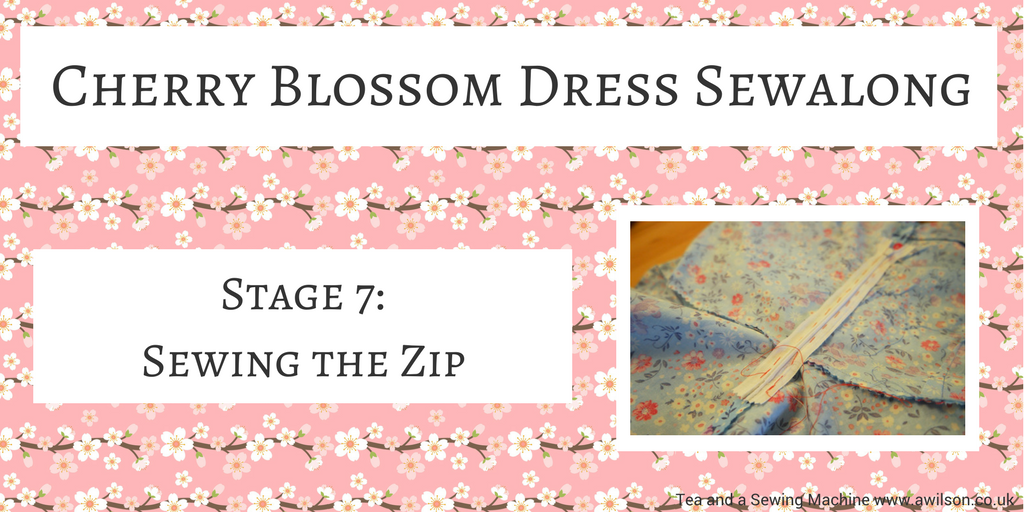 cherry blossom dress sewalong sewing the zip