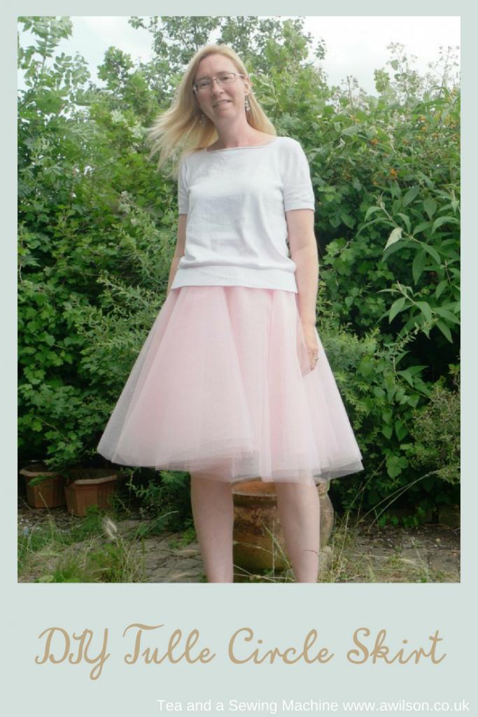 easy tulle circle skirt