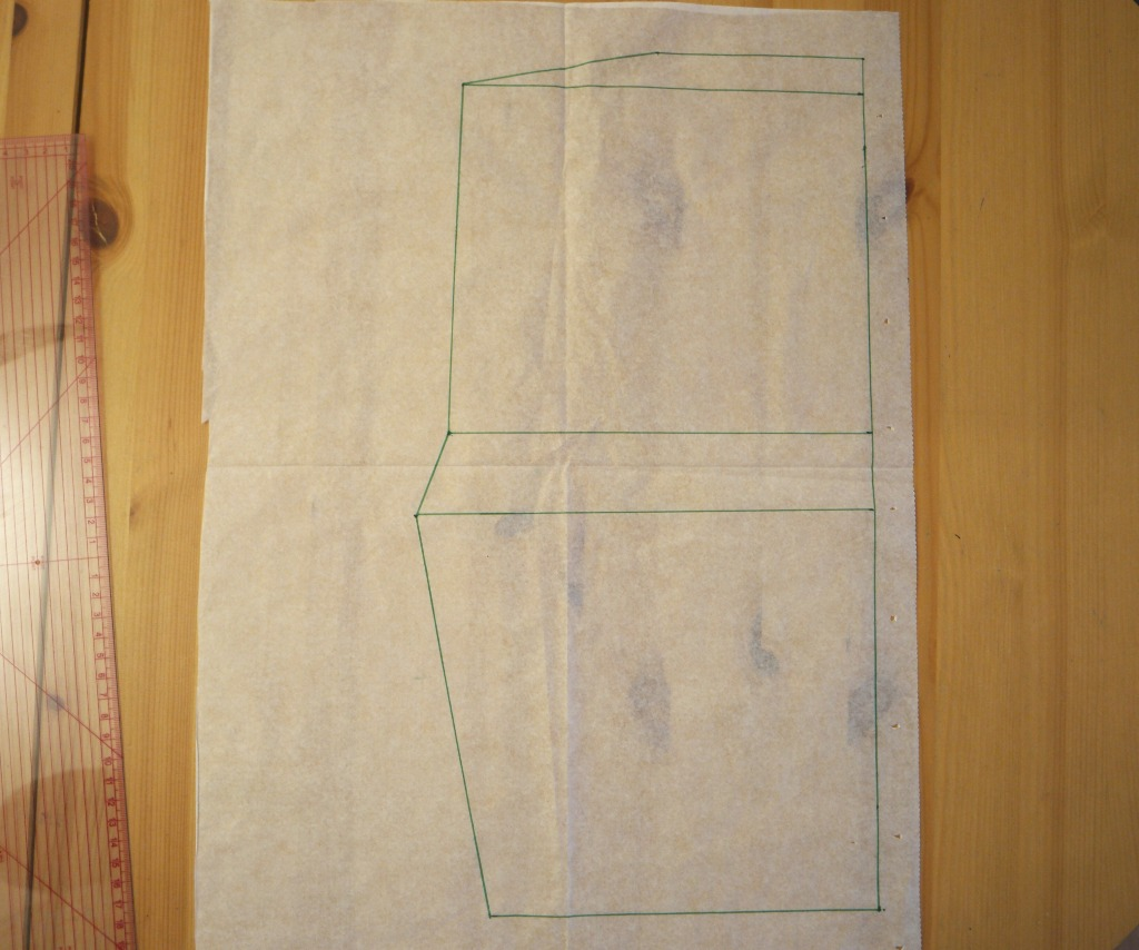 halter neck dress without  pattern drafting the pattern