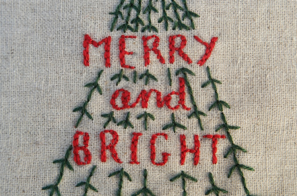 christmas embroidery project