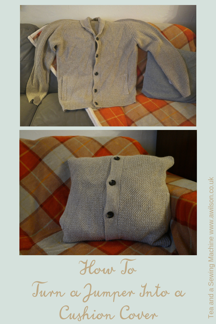 how to turn a jumper into a cushion