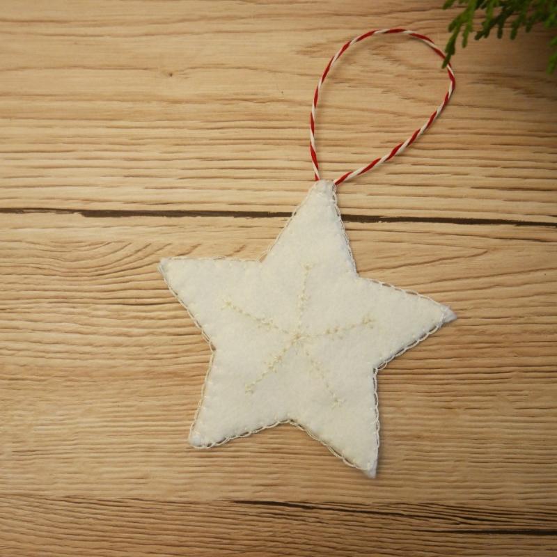 diy embroidered christmas star