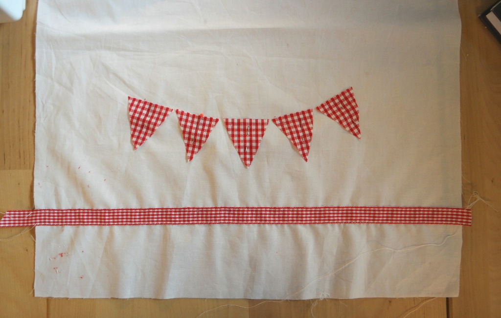 DIY bunting tea towel