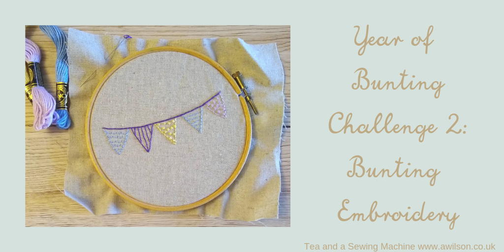 Year of Bunting Challenge 2 _ Bunting Embroidery
