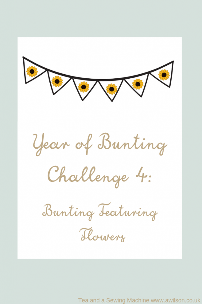 year of bunting challenge 4 bunting with flowers