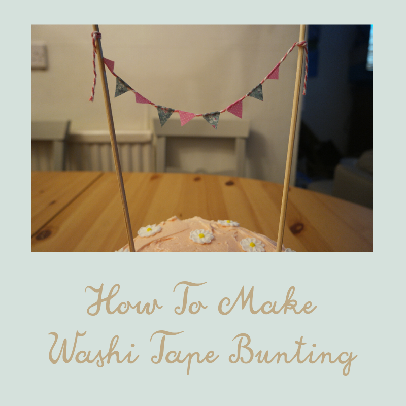 how to make washi tape bunting