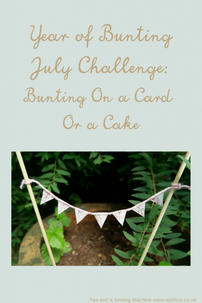 bunting on a card or a cake