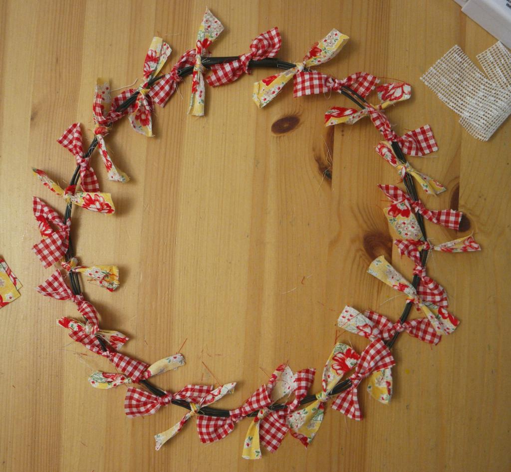 tied wreath