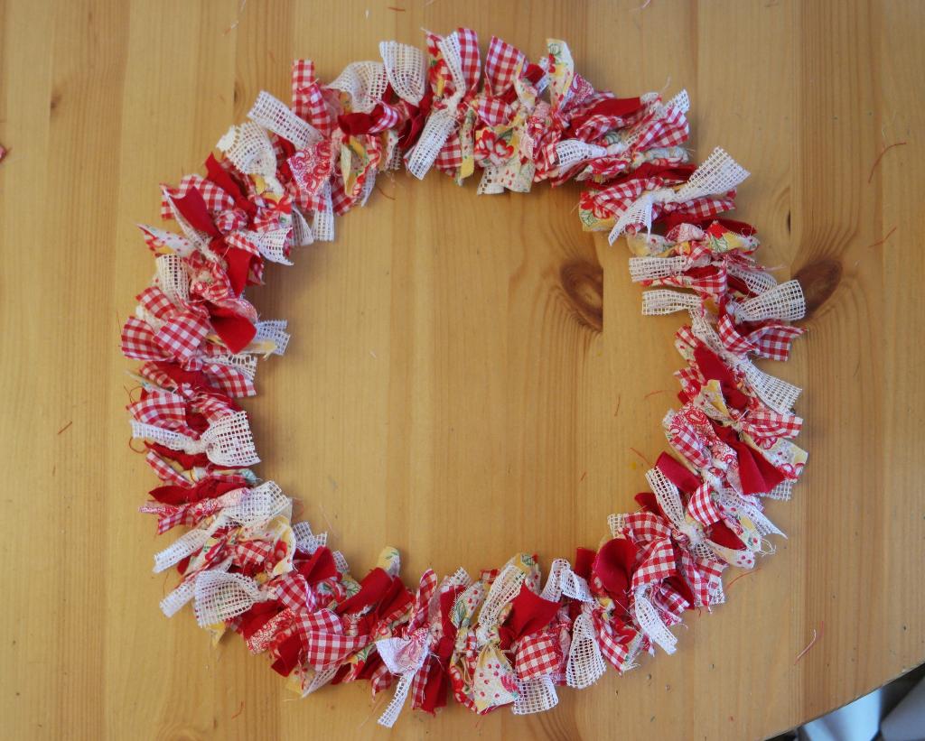 hand tied wreath