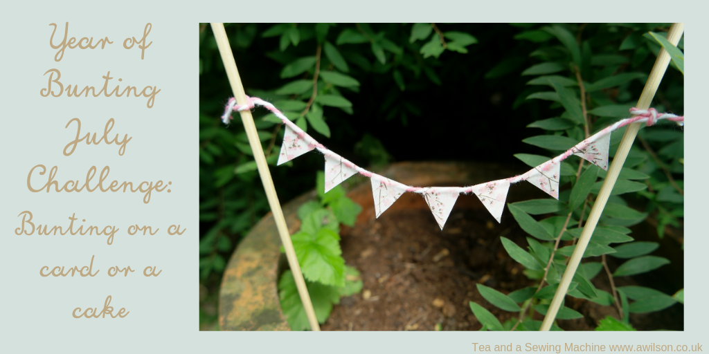 year of bunting july challenge bunting for a card or a cake