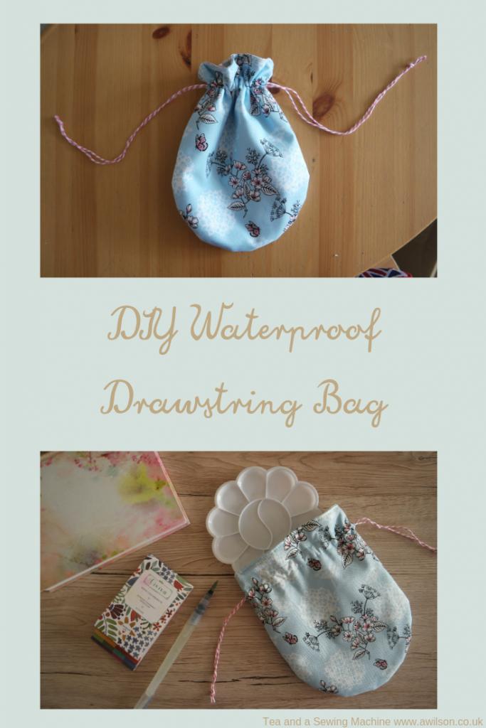 diy waterproof drawstring bag