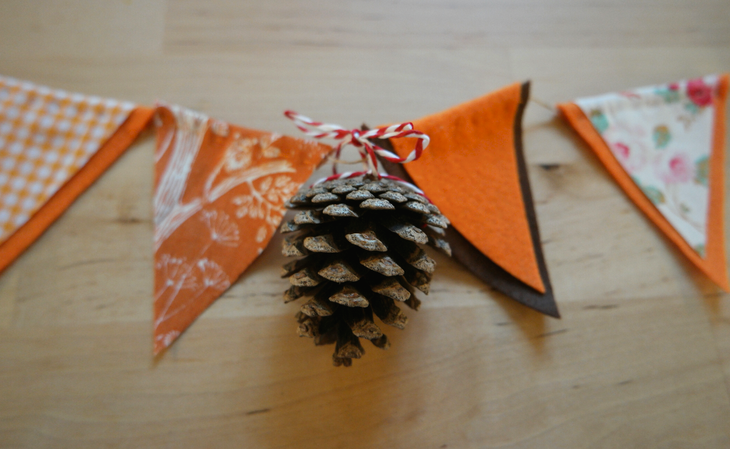 october nature themed bunting