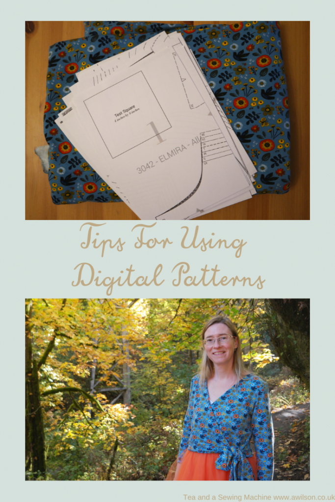 tips for using digital sewing patterns