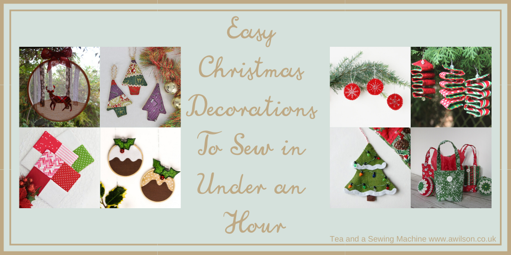 Easy Christmas Decorations To Sew in Under an Hour