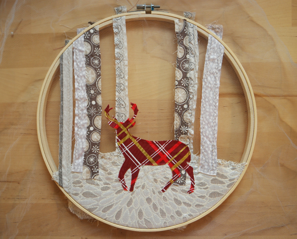 embroidery hoop christmas decoration