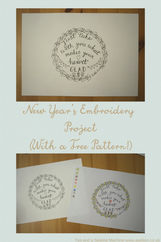 new years embroidery project