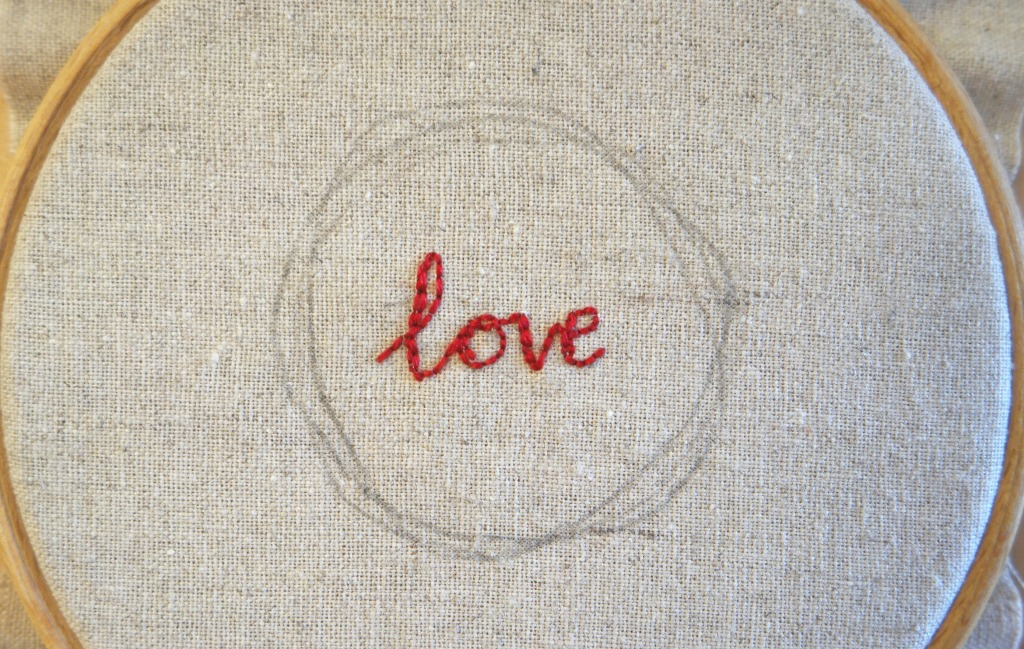 handlettering for embroidery