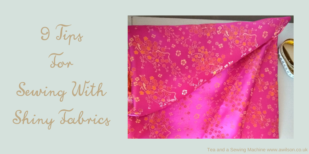 9 tips for sewing with shiny fabric