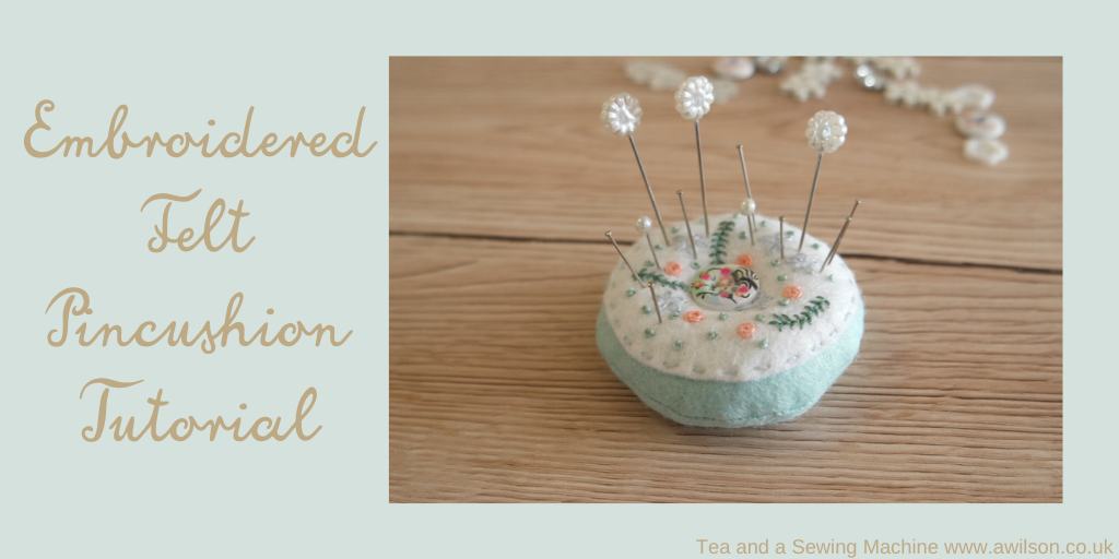 embroidered felt pincushion
