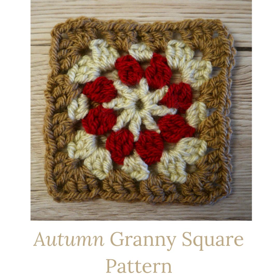 autumn granny square pattern