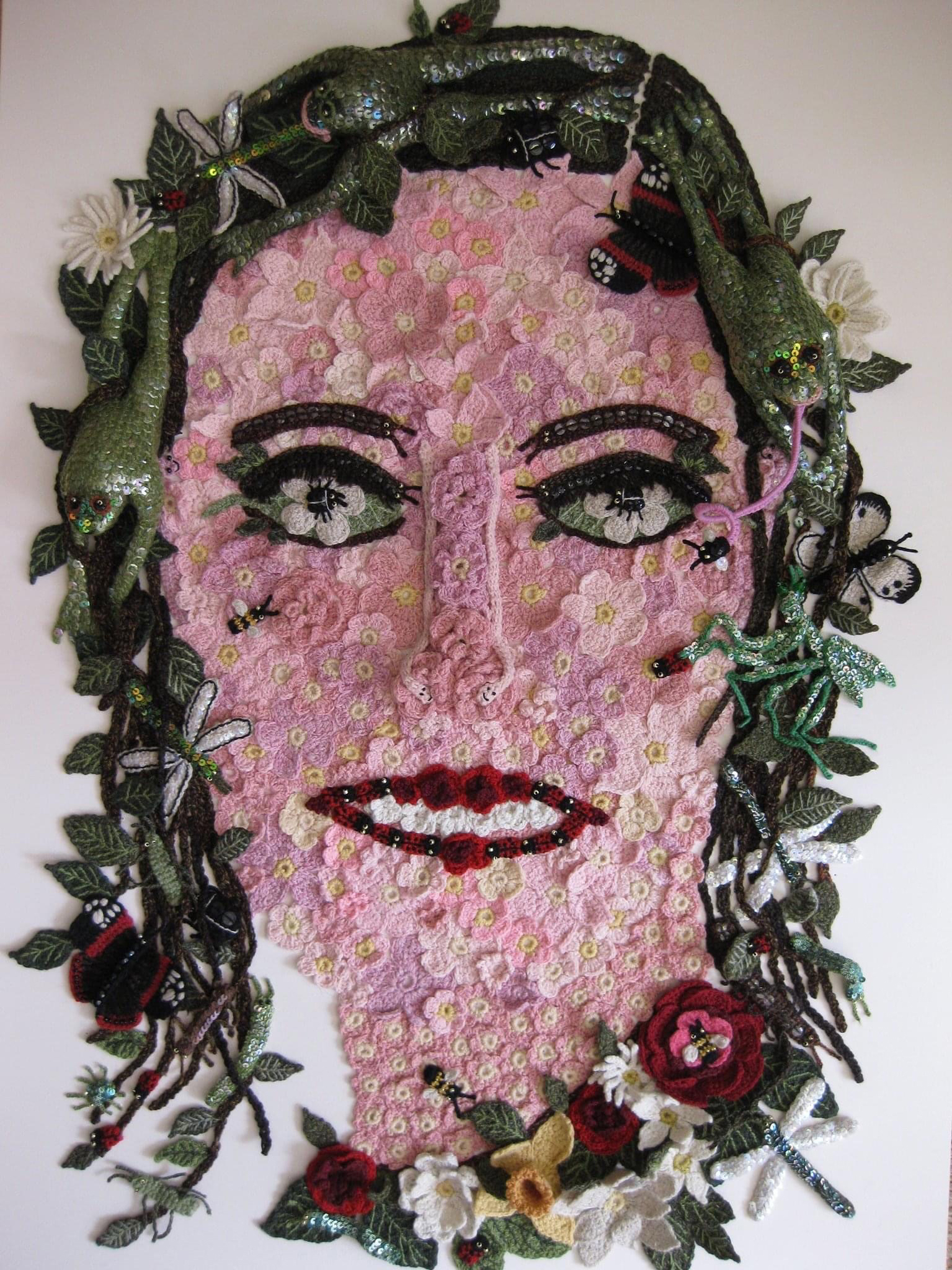textile self portrait competition knitting and stitching show 2020